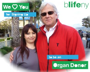 bLifeNY, we love you, organ donation, Dr. Chris Barry, Randy Weiss, altruistic donor, kidey transplant, living donor transplant, We love you for signing up to be an organ donor