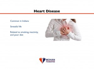"""High blood pressure, or """"hypertension"""", is also quite common among Indians. Contributing factors, other than genetic predisposition, include a stressful lifestyle, too much salt intake, and inadequate exercise and relaxation (such as meditation). Uncontrolled hypertension leads to stroke, heart attack, and kidney failure. Hypertension can be treated by decreasing the amount of salt in one's diet and many different oral medications. It is important to choose the right medication(s) for a given individual, because severity of disease and side effects to the medicines differ from one person to the next."""